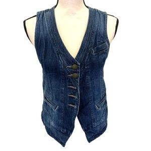 CAbi Partridge Wash Denim Jean Vest